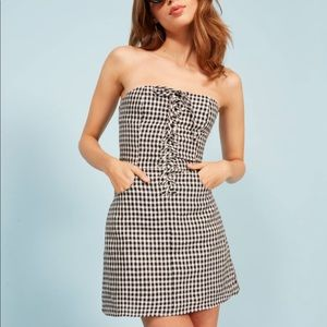 NWT Reformation Sid Dress in April Check size 2